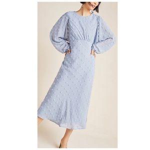 Anthropologie Michaela Textured Midi Dress 2P